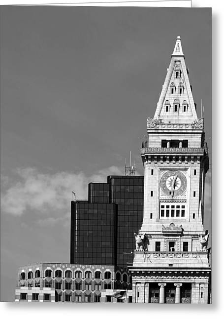Custom House Tower Greeting Cards - The Custom House of Boston Greeting Card by Mountain Dreams