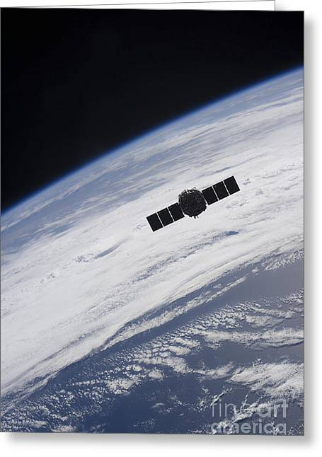 Automated Greeting Cards - The Cygnus Spacecraft Begins Greeting Card by Stocktrek Images