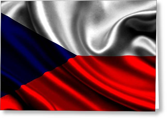 Czech Flag Greeting Cards - The Czech Republic Flag Greeting Card by Leitte Family