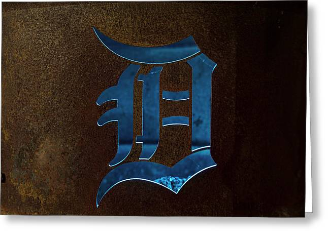 Gallons Greeting Cards - The D Can Detroit MI Greeting Card by Photographartist Nicholas Grunas