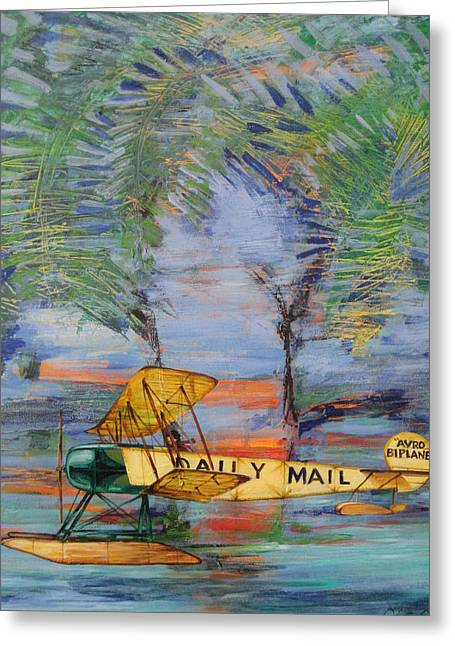 Daily Mail Greeting Cards - The Daily Mail Greeting Card by Jeff Seaberg