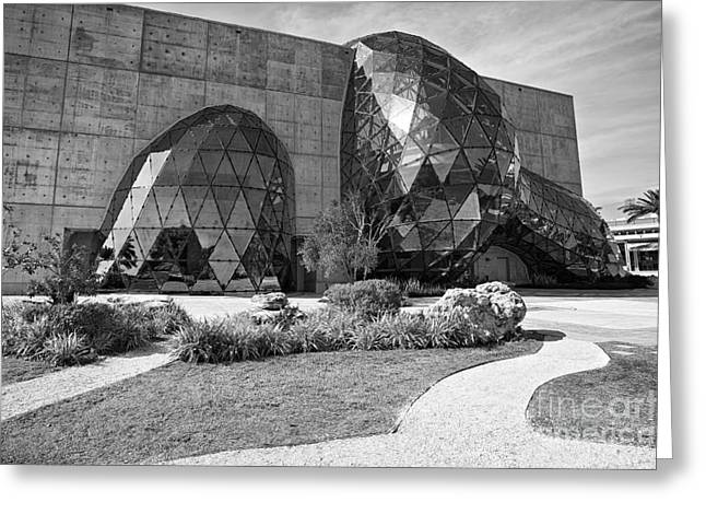 St Petersburg Florida Pyrography Greeting Cards - The Dali Museum Greeting Card by Eyzen M Kim