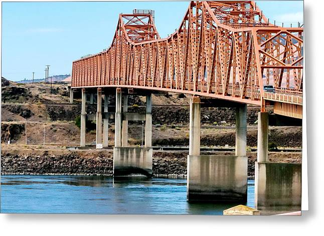 My Ocean Greeting Cards - The Dalles Bridge Greeting Card by   FLJohnson Photography
