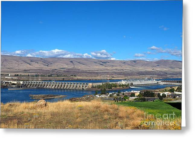 My Ocean Greeting Cards - The Dalles Dam Greeting Card by   FLJohnson Photography