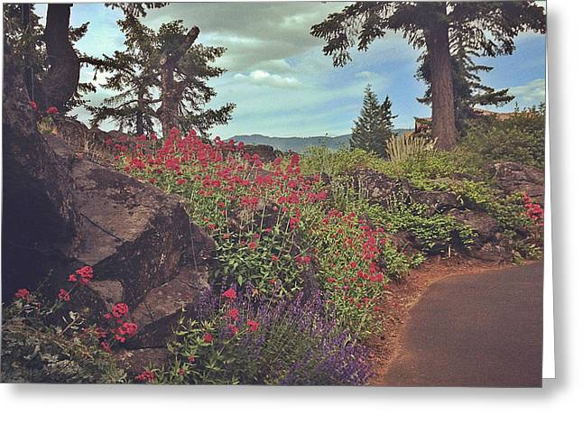 The Dalles - Flowers Greeting Card by Robert Pierce