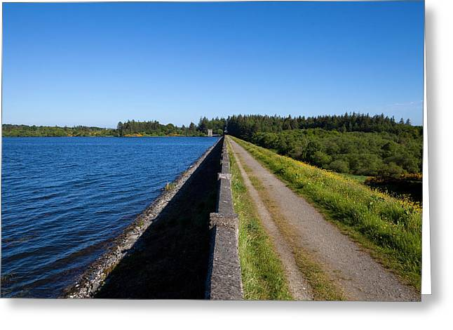 Civil Greeting Cards - The Dam, Vartry Reservoir , County Greeting Card by Panoramic Images