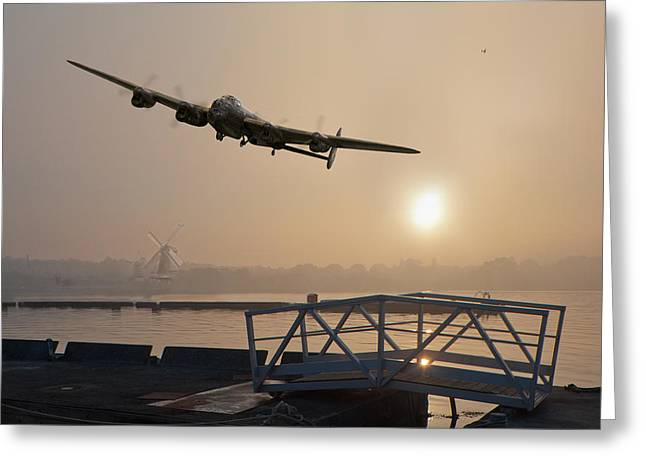 The Dambusters - Last One Home Greeting Card by Gary Eason