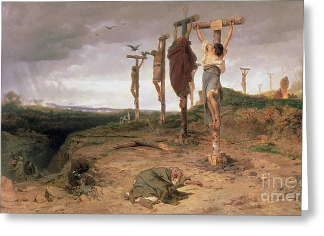 The Damned Field Execution Place In The Roman Empire Greeting Card by Fedor Andreevich Bronnikov
