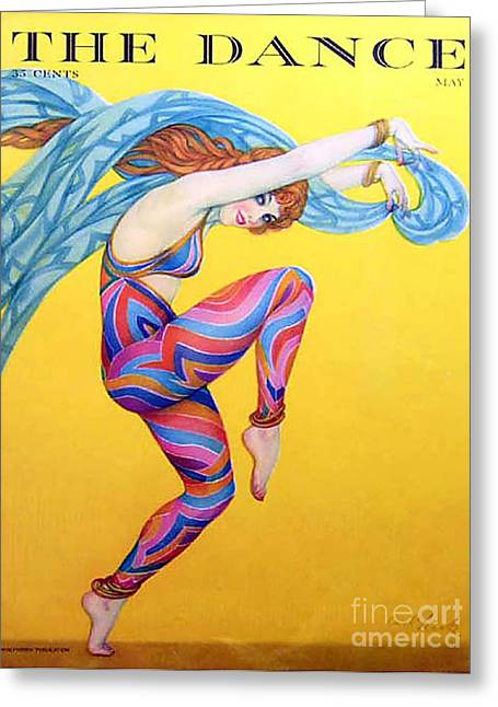 Twentieth Century Greeting Cards - The Dance  1927 1920s Usa Magazines Greeting Card by The Advertising Archives