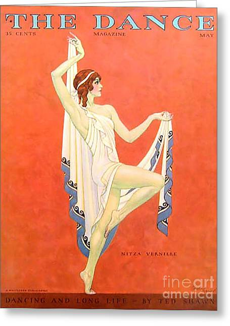 Twentieth Century Greeting Cards - The Dance 1929 1920s Usa Nitza Vernille Greeting Card by The Advertising Archives