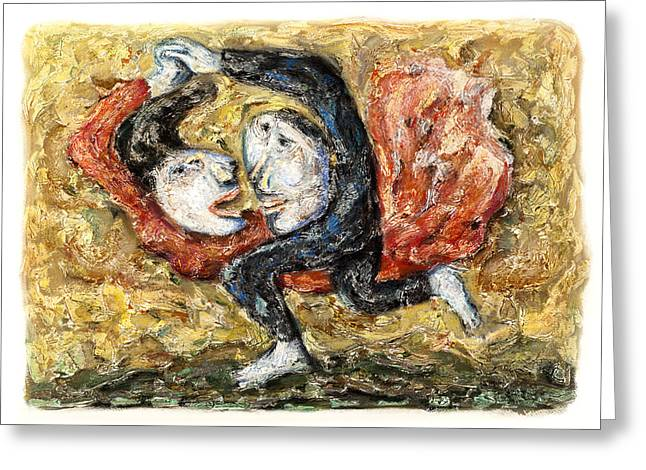 Adult Pastels Greeting Cards - The Dance - 2011 Greeting Card by Nalidsa Sukprasert
