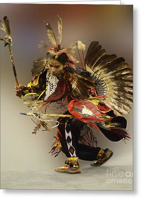 Fancy-dancer Greeting Cards - Pow Wow The Dance Greeting Card by Bob Christopher