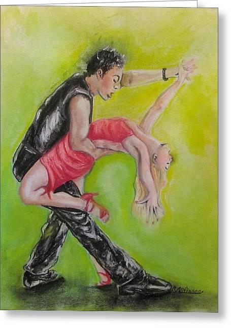 The Dance Greeting Card by Carol Allen Anfinsen