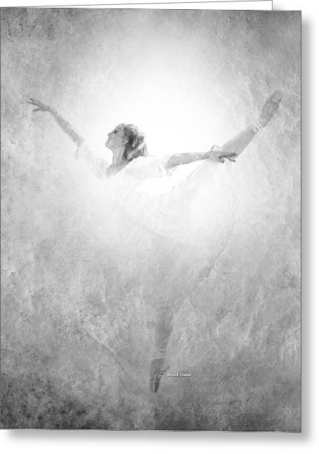 Ballet Dancers Drawings Greeting Cards - The Dance Finale Greeting Card by Angela A Stanton