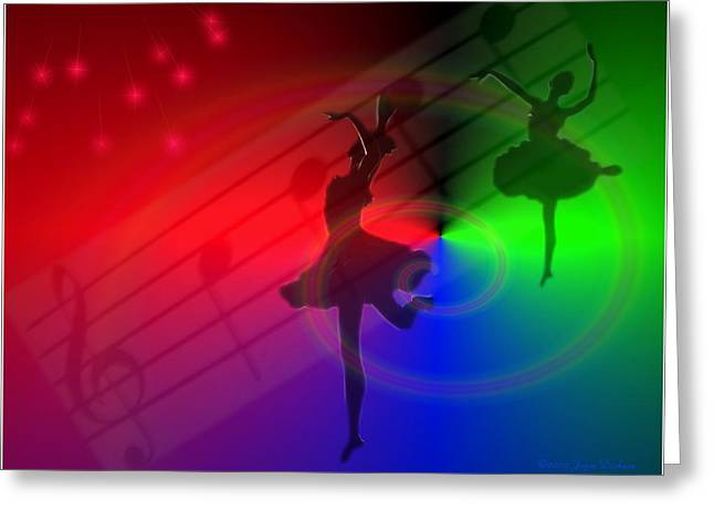 Prima Ballerina Digital Art Greeting Cards - The Dance Greeting Card by Joyce Dickens