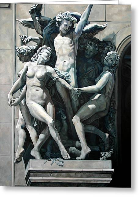 France Sculptures Greeting Cards - The Dance Greeting Card by Kathleen English-Barrett