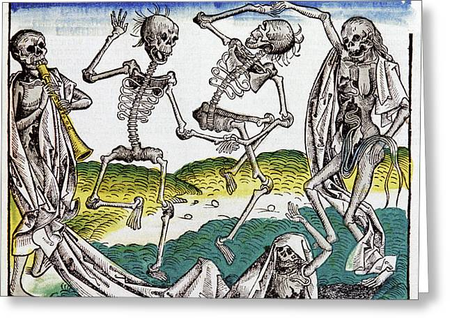 The Dance Of Death Greeting Card by Cci Archives