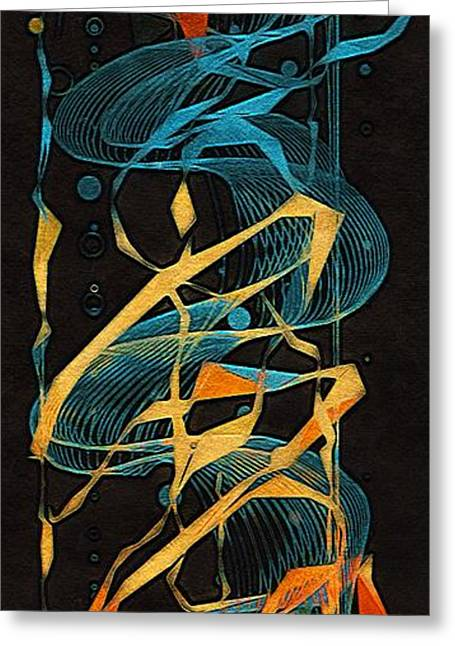 Geometrical Art Greeting Cards - The Dance of Time Greeting Card by Susan Maxwell Schmidt