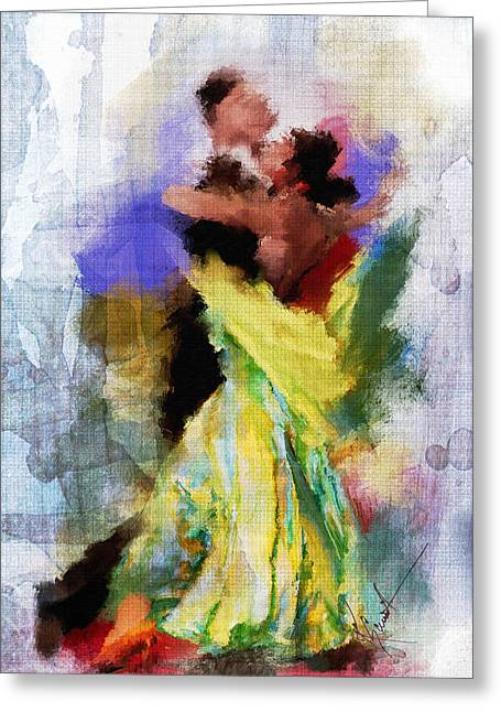 The Dance Greeting Card by Robert Smith