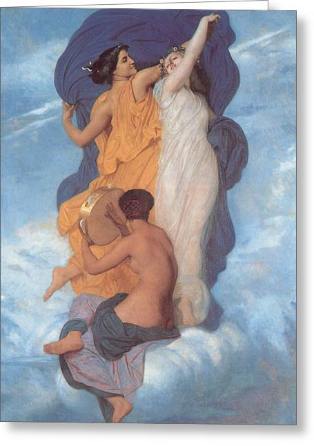 Buterfly Greeting Cards - The Dance Greeting Card by William Bouguereau