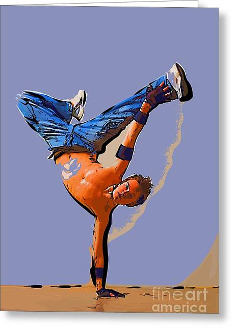 College Town Greeting Cards - The dancer 93 Greeting Card by College Town