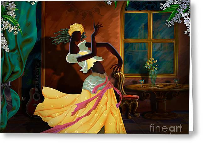 Bedros Awak Greeting Cards - The Dancer Act 1 Greeting Card by Bedros Awak