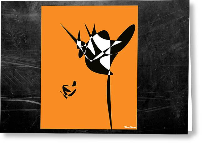 Karo Evans Greeting Cards - The dancer Greeting Card by Karo Evans
