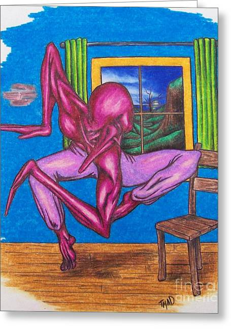 The Dancer Greeting Card by Michael  TMAD Finney