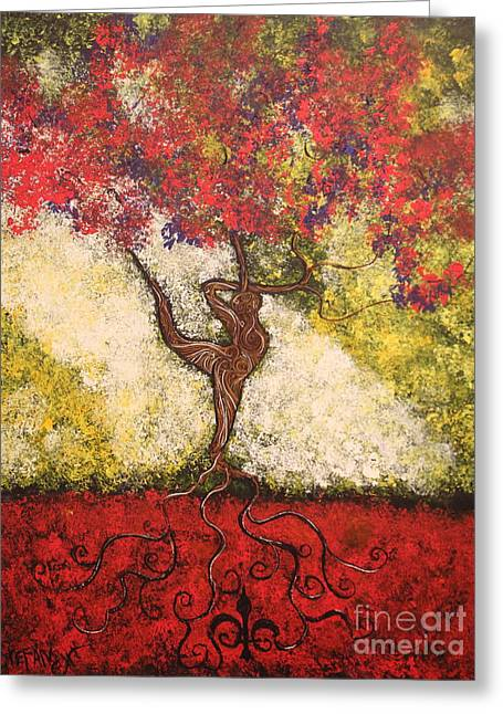 Squiggleism Greeting Cards - The Dancer Series 7 Greeting Card by Stefan Duncan