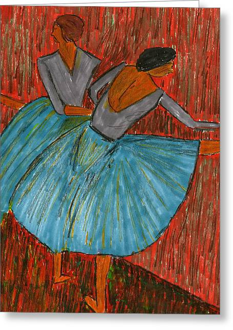 Ballet Bar Greeting Cards - The Dancers Greeting Card by John Giardina