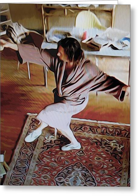 Big Lebowski Photographs Greeting Cards - The dancing Dude Greeting Card by Guido Prussia