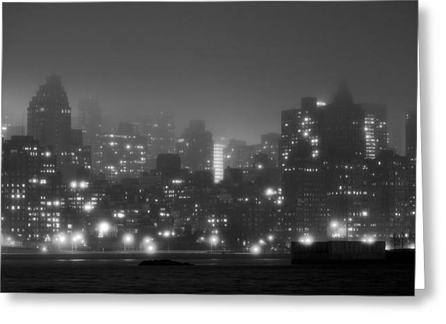 Gotham City Greeting Cards - The Dark and Stormy Night Greeting Card by JC Findley