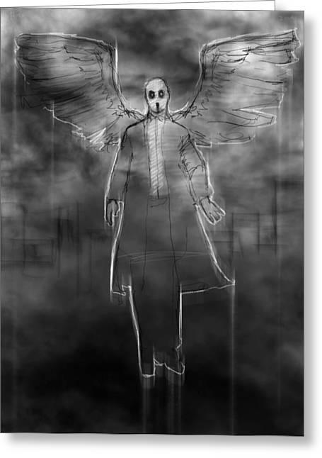 The Dark Angel Greeting Card by H James Hoff
