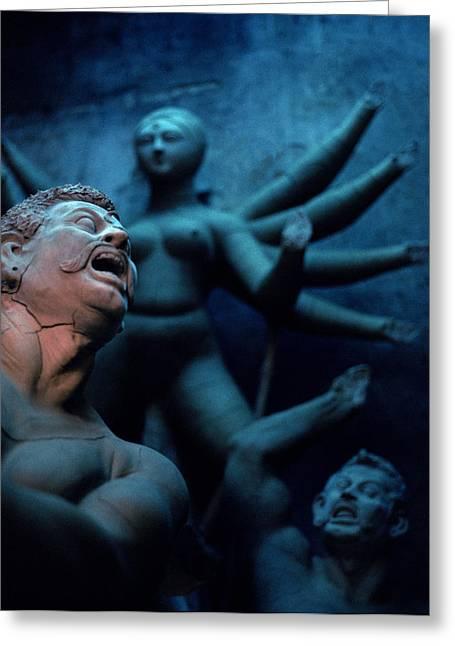 Goddess Durga Photographs Greeting Cards - The Dark Dream Greeting Card by Shaun Higson
