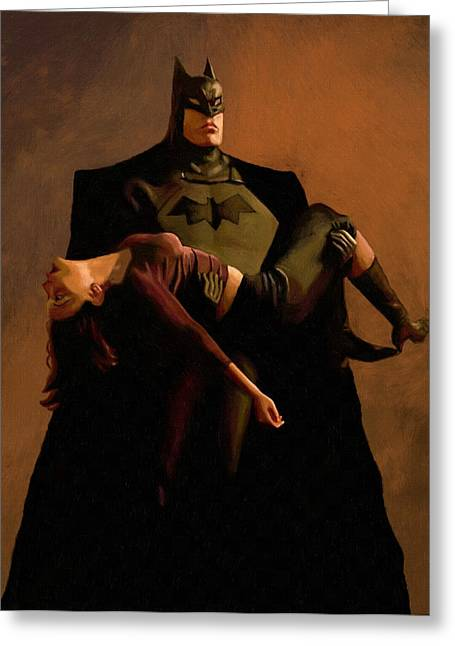 Batman Greeting Cards - The dark knight rises posters for sale Greeting Card by Victor Gladkiy