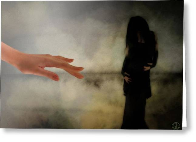 Black Clothes Greeting Cards - The dark little sister Greeting Card by Gun Legler