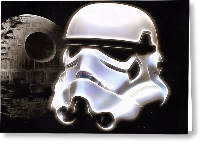 Weapon Mixed Media Greeting Cards - The Dark Side Greeting Card by Dan Sproul
