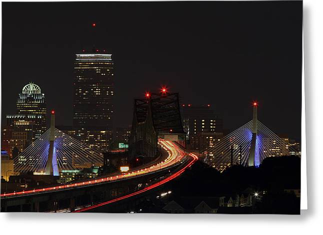 The Dark Side Of Boston Greeting Card by Juergen Roth