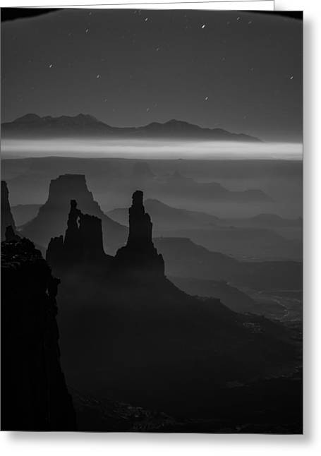 Southern Utah Greeting Cards - The Dark Side of the Moon Greeting Card by Dustin  LeFevre