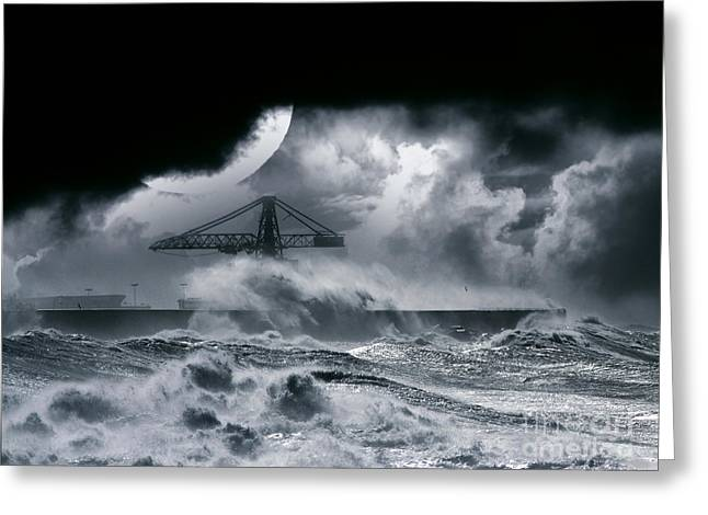 The Dark Storm Greeting Card by Boon Mee