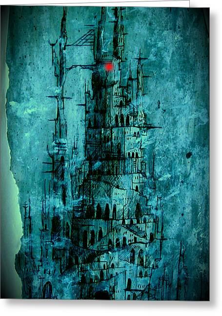 Lord Of The Rings Greeting Cards - The Dark Tower Greeting Card by Joe  Gilronan