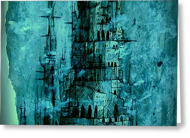 The Dark Tower Greeting Card by Joe  Gilronan