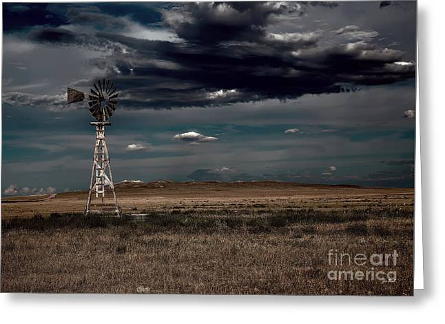 The Cost Of War Greeting Cards - The Dark Wind Greeting Card by Jon Burch Photography