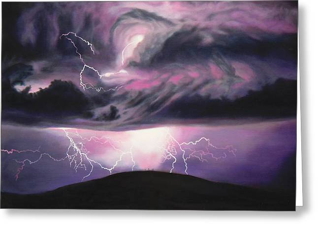 Calvary Greeting Cards - The Darkest Day Greeting Card by Anastasia  Ealy