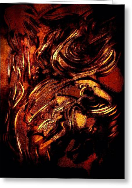 Divorce Greeting Cards - The Darkness Greeting Card by Rich Ackerman