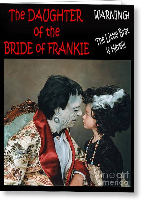 Bowtie Digital Greeting Cards - The Daughter of the Bride of Frankie Greeting Card by Jim Fitzpatrick