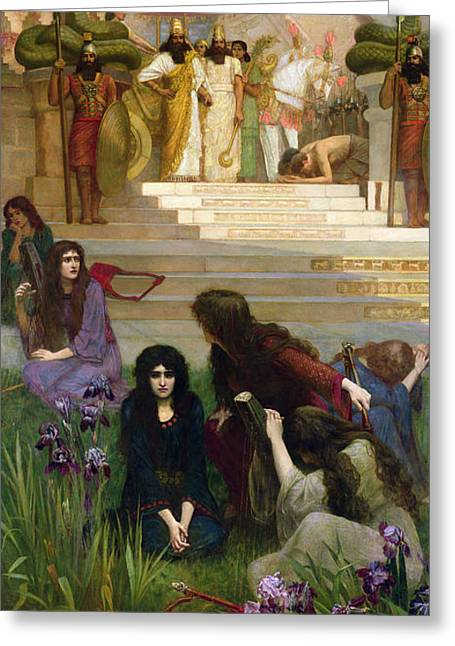 The Daughters Of Judah In Babylon Greeting Card by Herbert Gustave Schmalz