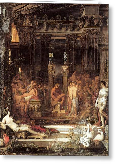 Gustave Moreau Greeting Cards - The Daughters of Thespius Greeting Card by Gustave Moreau