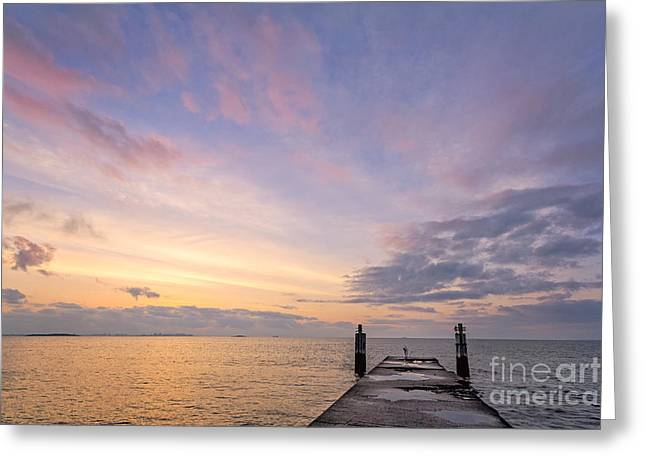 York Beach Photographs Greeting Cards - The Dawn Of A New Age Greeting Card by Evelina Kremsdorf