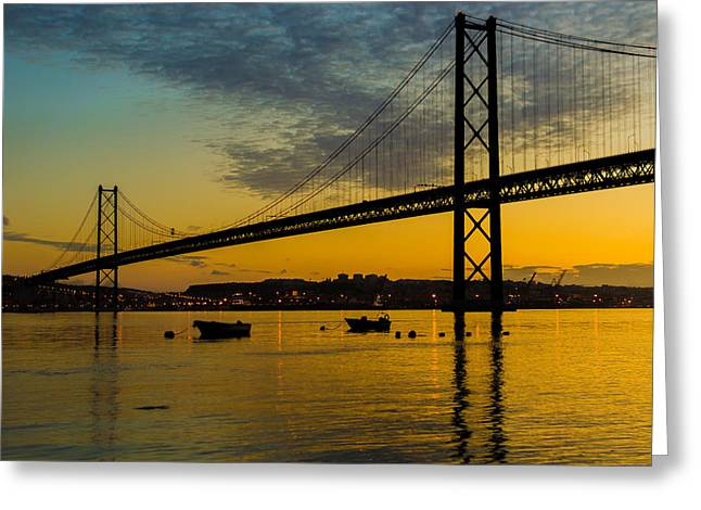 American Bridge Company Greeting Cards - The Dawn of Day I Greeting Card by Marco Oliveira